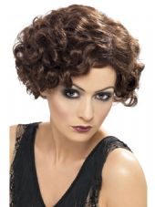 1920's Flapper Brown Wig